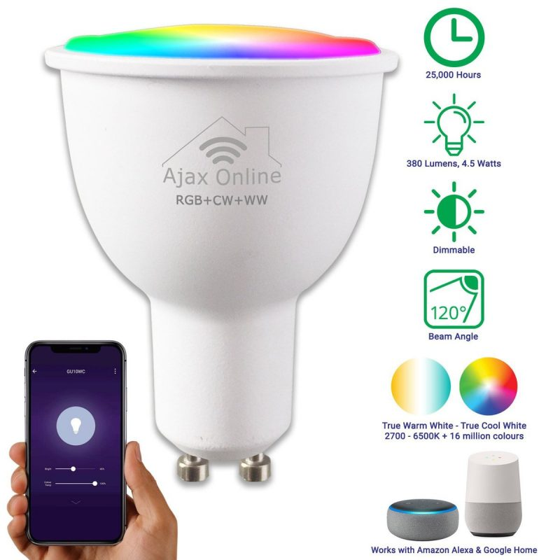 Smart Spotlight, compatible with Alexa and Google Home