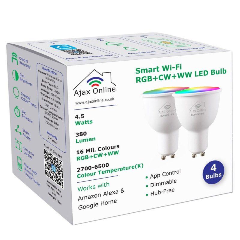White box of 2 LED Smart Bulbs