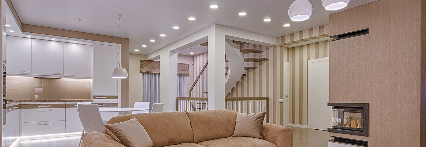 Open Stair case with LED GU10 Spot lighting