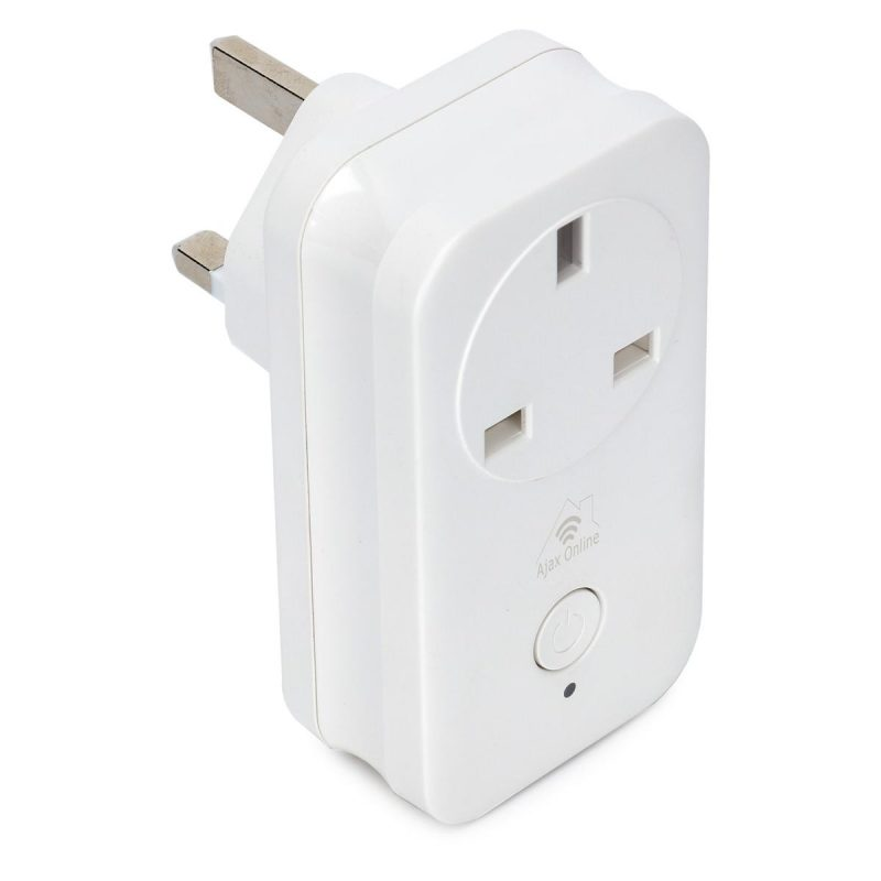Ajax Online white rectangular Smart Plug
