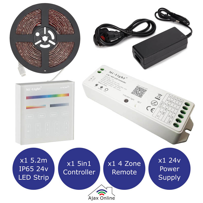 LED Strip kit, Power, Strip, Remote and controller