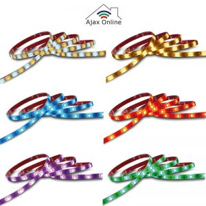 LED Strips displaying various colours