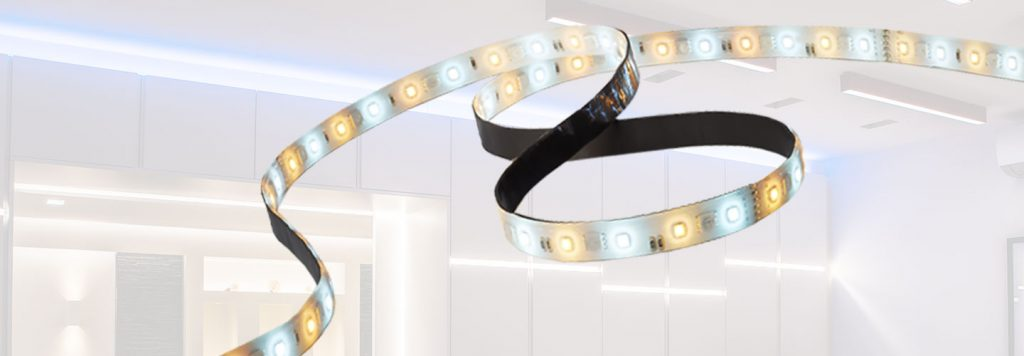 Dimmable and tuneable LED strip