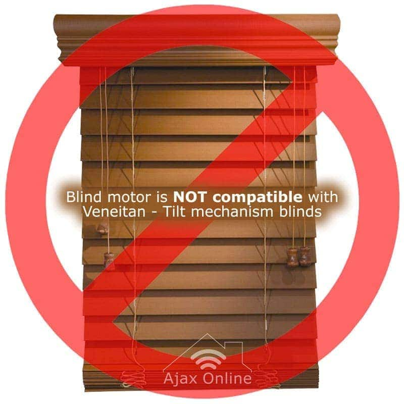 not compatible with venetian blinds