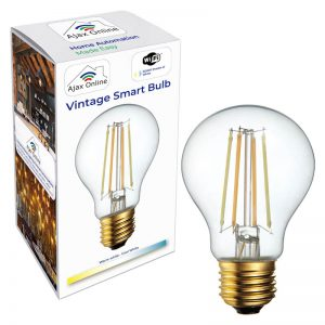 Vintage filament bulb with box packaging