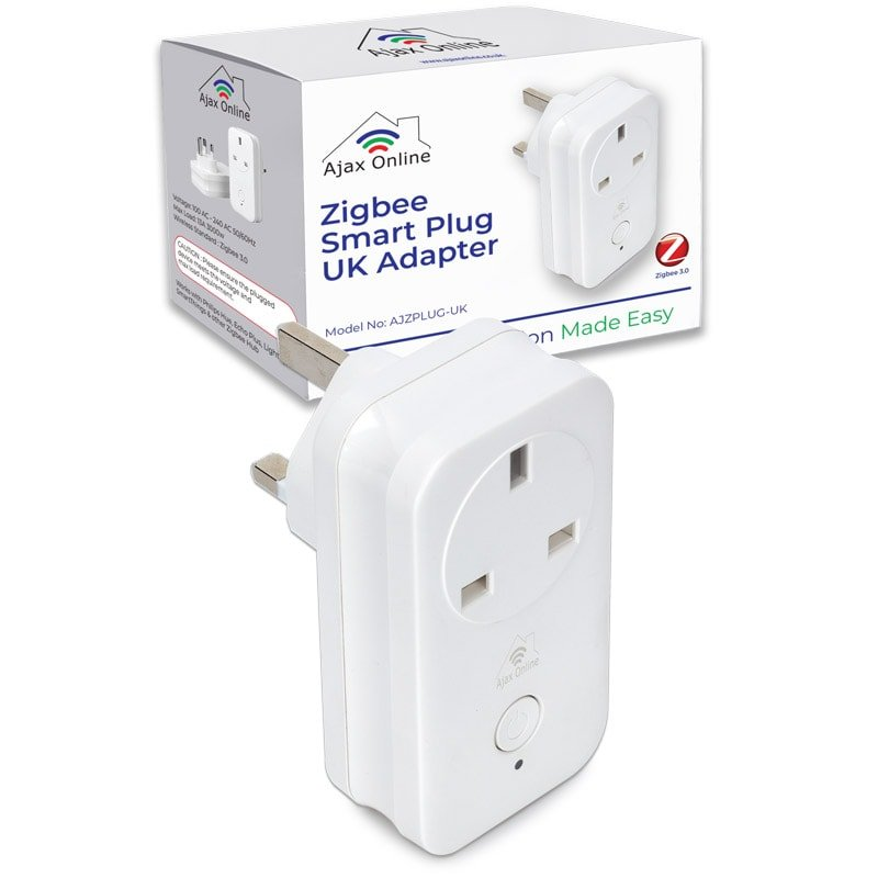 Zigbee Smart Plug and box Packaging