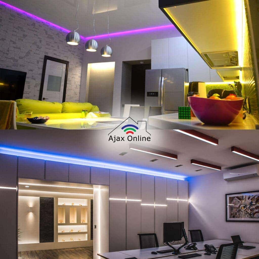 Colour LED strip lighting