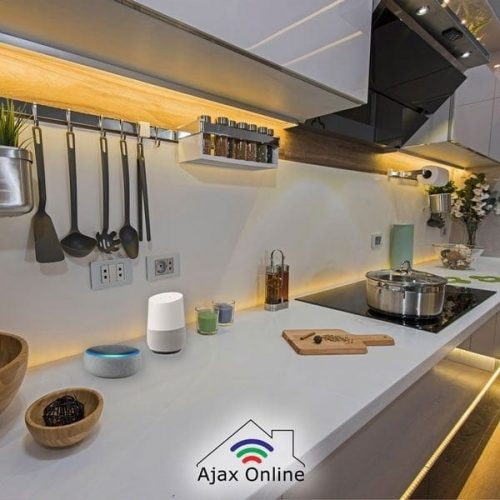 LED lighting in modern kitchen
