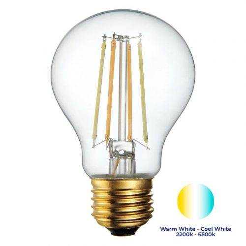 Filament Bulb and warm to cool colour scale