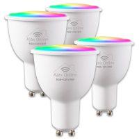 Smart WIFI GU10 Spotlight Bulbs RGB+W+CW - Pack of 4