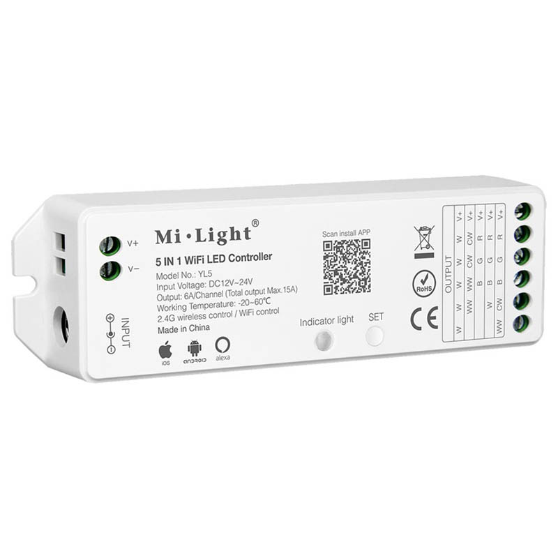 White rectangular Milight LED Controller