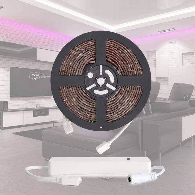 LED strip on circular reel.