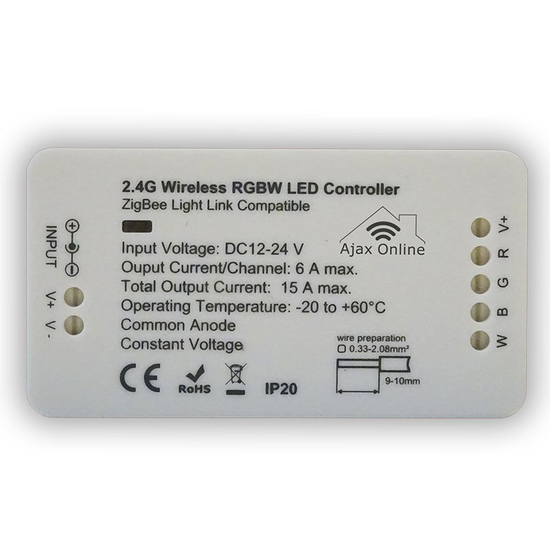 White 2.4G Wireless WW/WC LED Controller