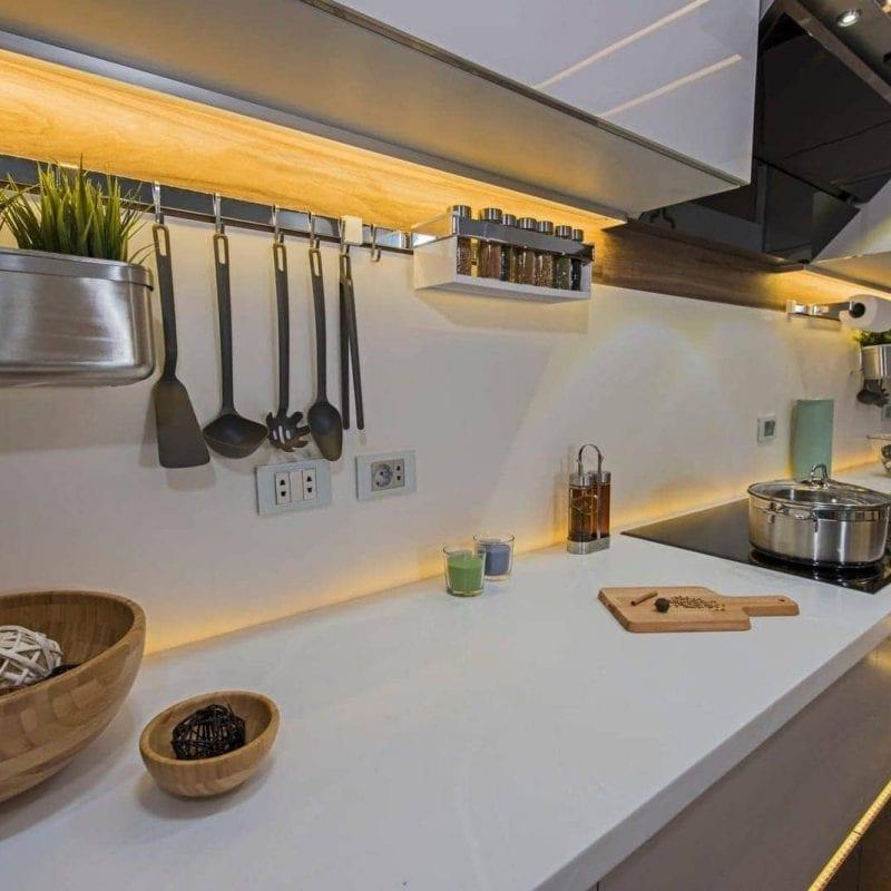 modern smart lighting in kitchen