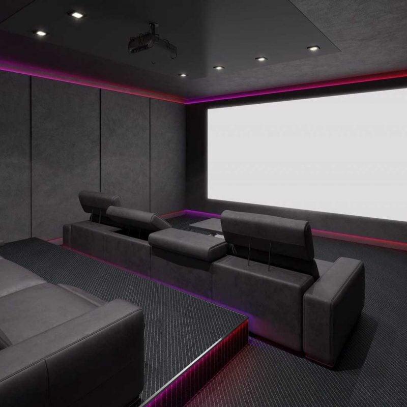 Home cinema with smart lighting
