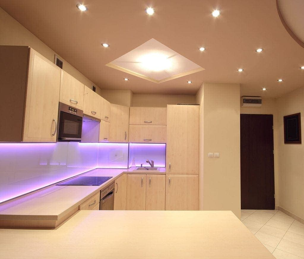 smart lighting in modern kitchen