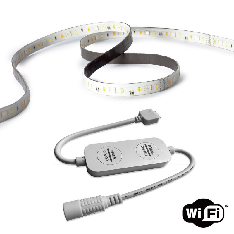 Small and discreet LED Strip power connector