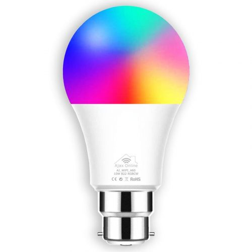 A60 Smart Spotlight displaying a range of colours.