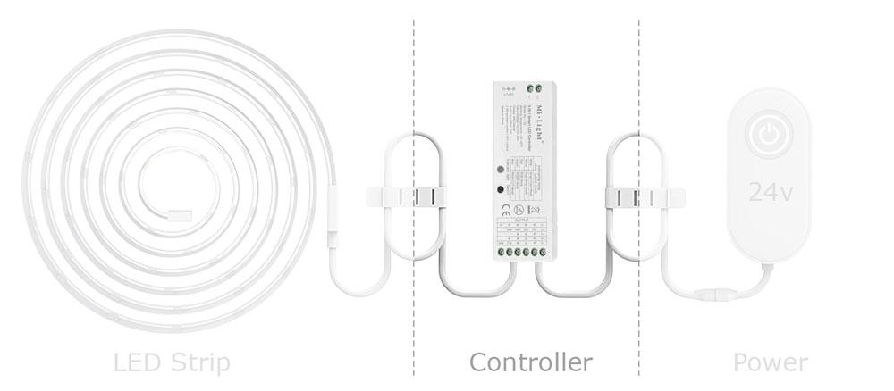 led strip controller diagram