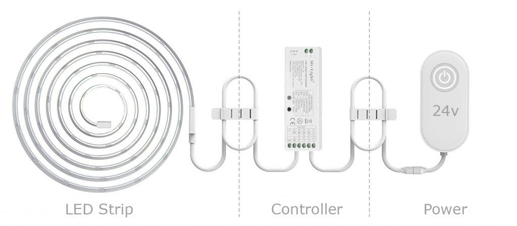led strip kit diagram