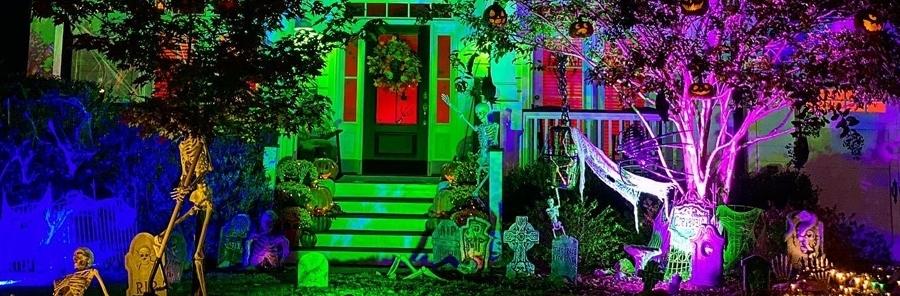 spooky outdoor lighting