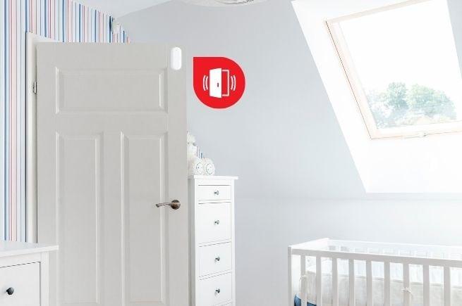 Door sensor child safety