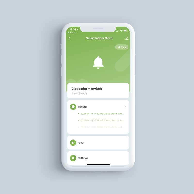 SmartIndoorSirenl PhoneScreenshot