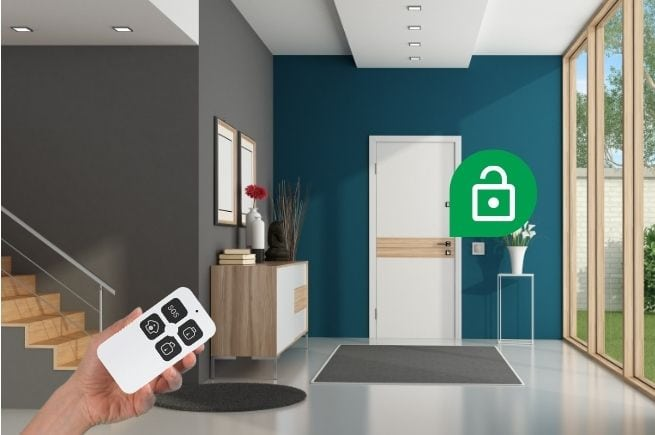 smart remote arm security system