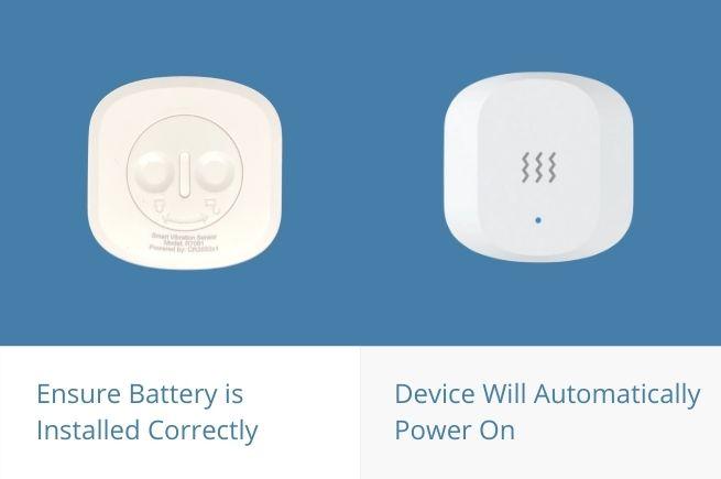 power on vibration sensor